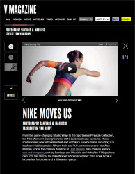 press: nike spsu features in v magazine
