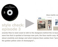 content creation: designers behind blue marlin line for style check – the moet chandon radio program created by ceft and company new york