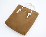 product design: nike limited edition leather suede and rope tote bag designed and manufactured through ceft and company