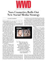 press: nars cosmetics rolls out new social media strategy
