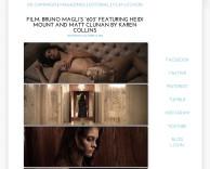 press: bruno magli's premier fashion film 603 featured on smile