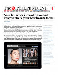 press: the independent features our nars social media campaign