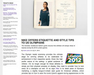 press: nike london 2012 olympics etiquette book featured on psfk