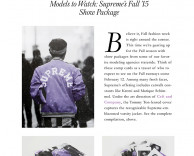 press: style.com showcases supreme models NYFW15 kit design by ceft and company