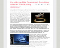 press: nike considered featured on treehugger