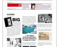 press: big magazine in the weekend edition