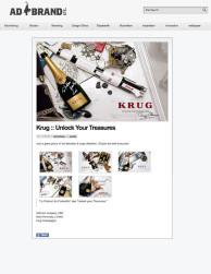 press: krug – unlock your treasures featured on adbrand