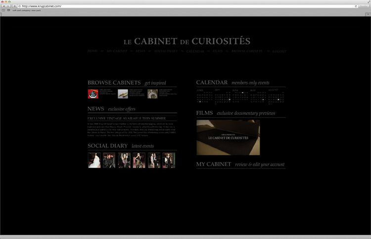 ceft-and-company-luxury-agency-ny-krug-champagne-cabinet-website-social-media-films