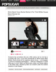 press: whbm the heart of workwear tv commercial featured on pop sugar