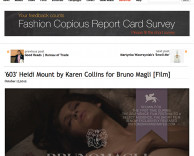 press: bruno magli's premier fashion film 603 featured on fashion copious
