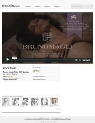 press: bruno magli's premier fashion film 603: featured on models.com