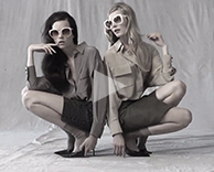 bts: adore fall / winter with models egle and ieva