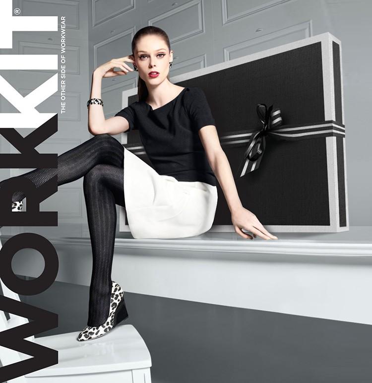 coco rocha-whbm workkit box advertising