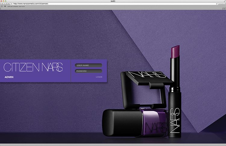 nars web design
