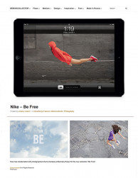 press: nike be free featured in designcollector