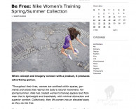 press: nike be free featured on graphic optimism