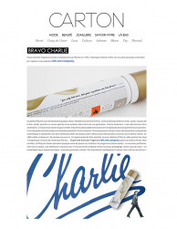 press: charlie new packaging as featured on carton magazine