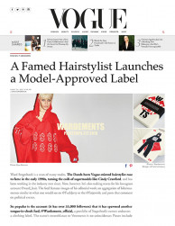Press: Vogue on model-approved label Wardements