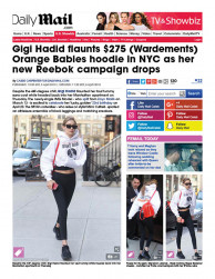 press: gigi hadid flaunts wardements orange babies hoodie for a good cause