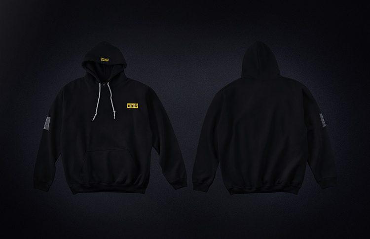 urok black hoodie design agency