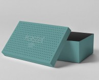 product/package design: kastel shoebox packaging design