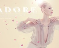 advertising: adore spring / summer campaign with model tanya dziahileva