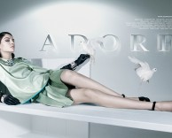 adore fashion advertising featuring model kate b