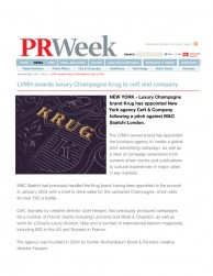 press: pr week united kingdom on krug champagne