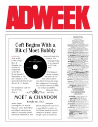 press: moet bubbly featured in adweek