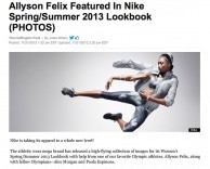 press: nike supernatural spring/summer lookbook starring allyson felix featured in the huffington post
