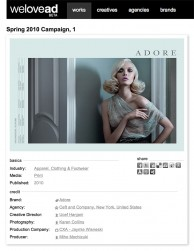 press: adore spring / summer campaign with model siri tollerod featured on welovead