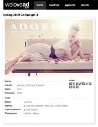 press: adore campaign with model tanya dziahileva featured on welovead