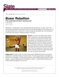 press: joe boxer featured on slate.com