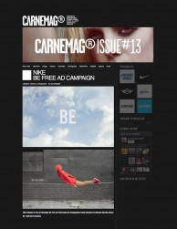 press: nike be free featured in carne mag