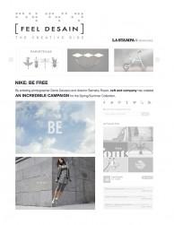 press: nike be free featured in feel desain
