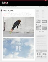 press: nike be free featured on fubiz