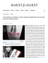press: nylon denim event starring olivia wilde featured on guest of a guest