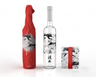 product/package design: Joto Sake, where manga hits the kicker